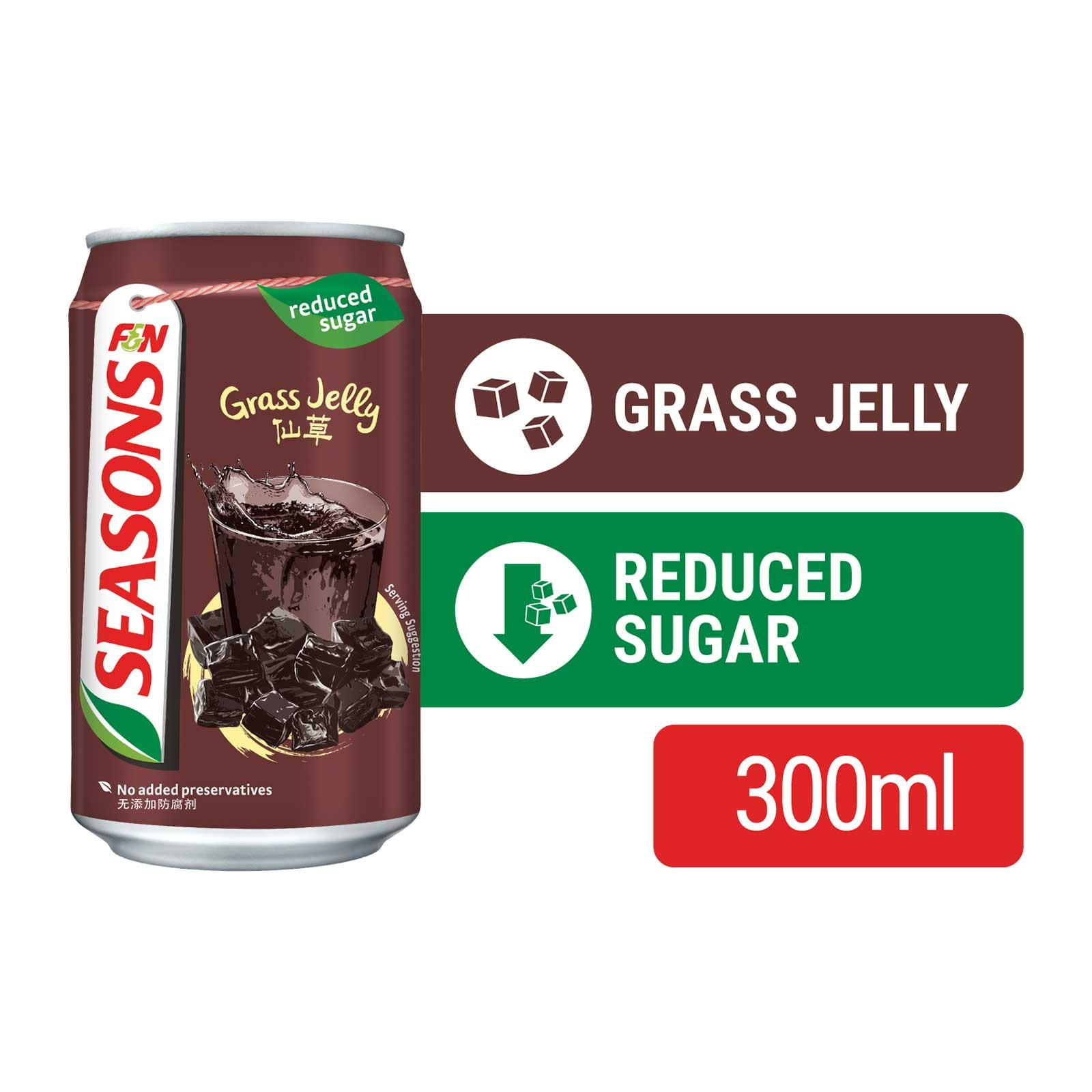 F&N Seasons Reduced Sugar Grass Jelly Drink