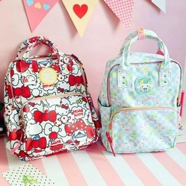 Cartoon Waterproof Cushioned A4 Backpack ❤ Hello Kitty Melody Twin Star Cinnamon Bag ❤ Primary Preschool Secondary Travel Luggage Mummy Diaper Bag ❤ School Tuition Camping Holiday Bag ❤