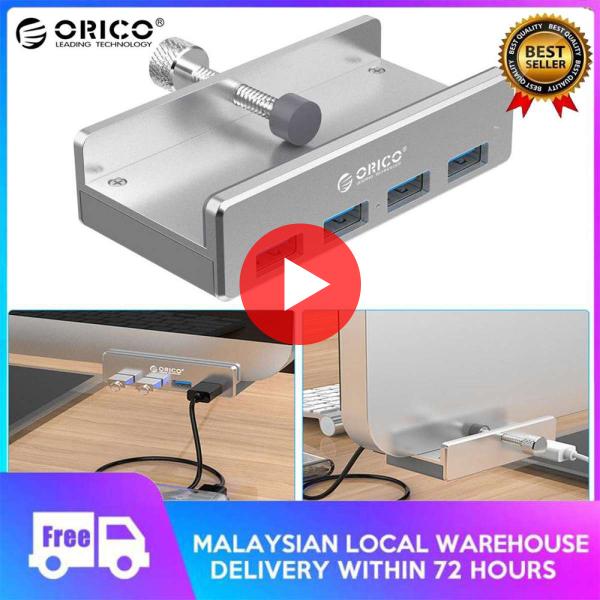 ORICO Original Aluminum 4 Ports USB 3.0 Clip-type HUB for Desktop Laptop Clip Range 10-30mm/0.39-1.18(Genuine)