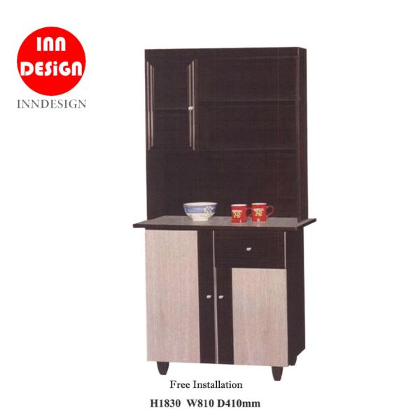 Lisa Kitchen Cabinet wiith Ceramic Top and Top Shelf (Free Delivery and Installation)