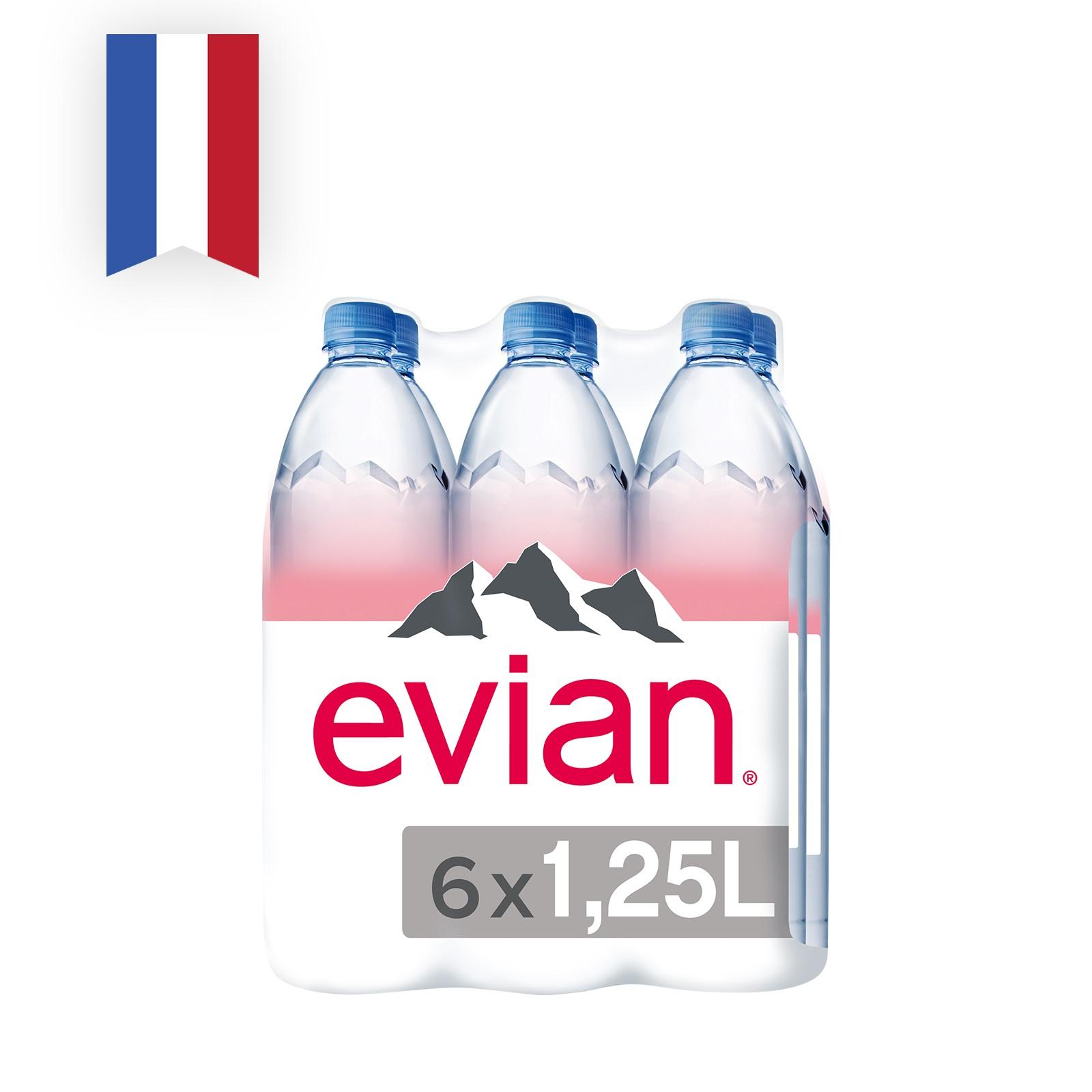 EVIAN Natural Mineral Water 6sX1.25L (#)