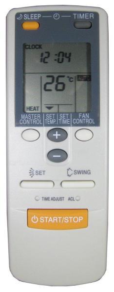 General Fujitsu Air Conditioner Remote Control AR-JW17 Universal AR-JW31/AR-DB2/AR-DB4