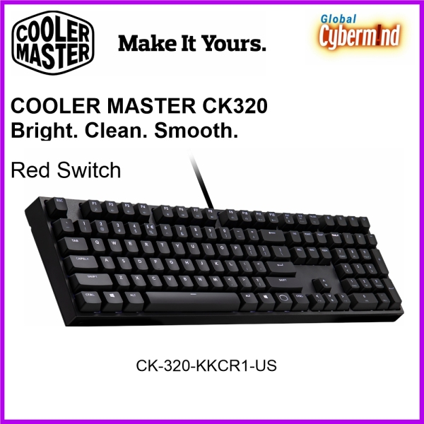 Cooler Master CK320 White LED Cherry MX Red/Brown/Blue Mechanical Gaming Keyboard Singapore