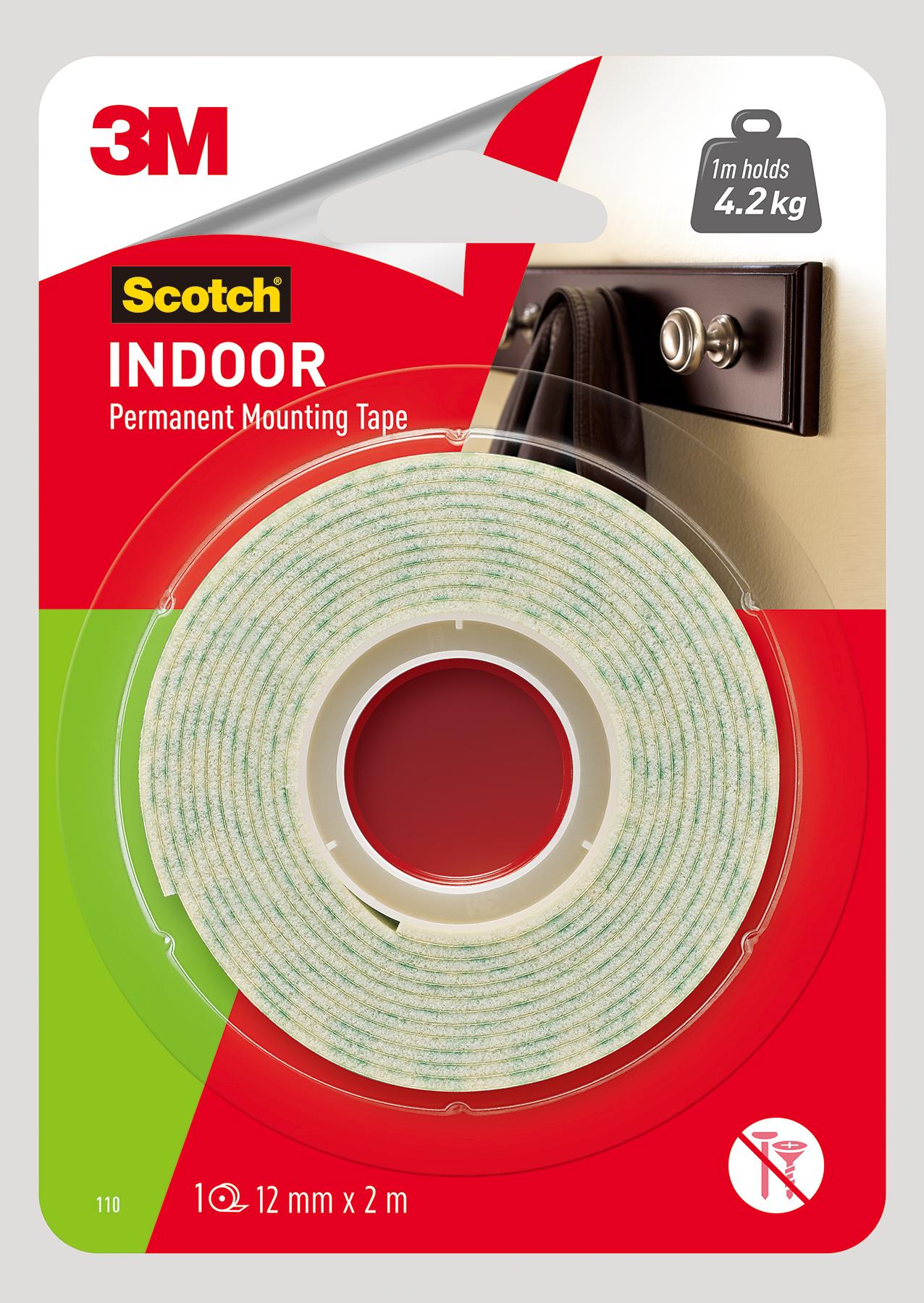 3m Scotchfoam Mounting Tape 0.5  X 75 [cat110 12mm X 2m] By 3m Official Store.