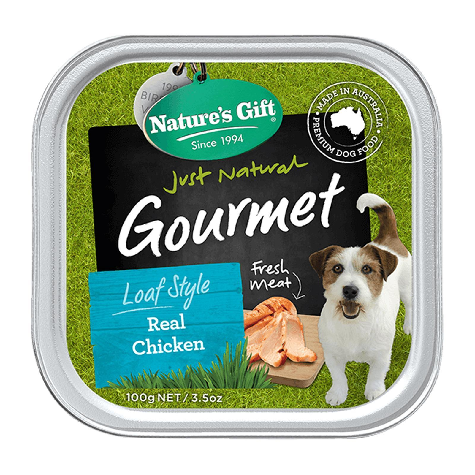 Nature's Gift Gourmet Real Chicken Wet Dog Food (9 Trays)
