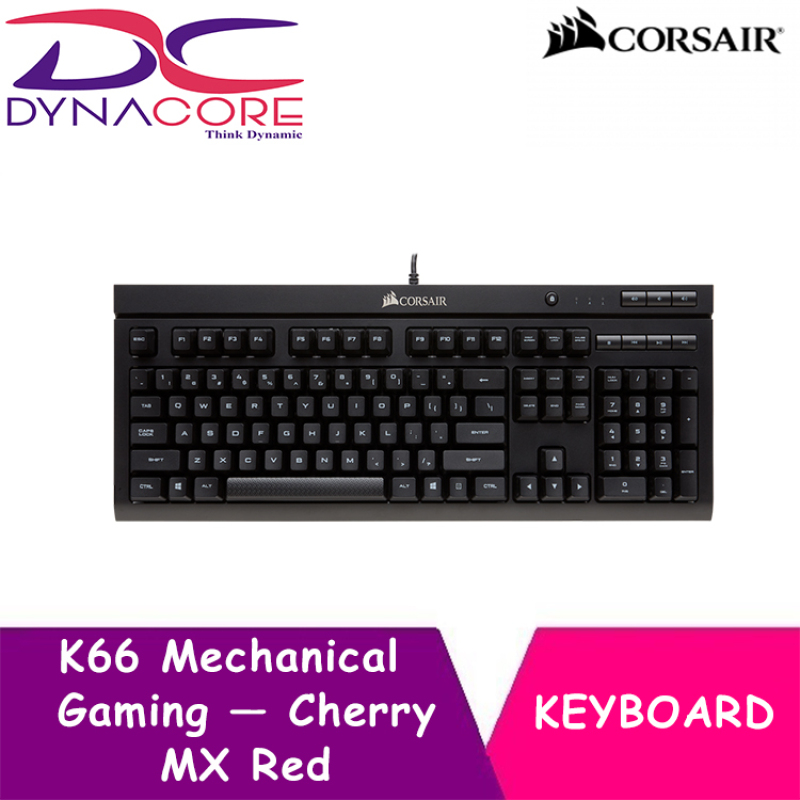 DYNACORE - CORSAIR K66 Mechanical Gaming Keyboard — Cherry MX Red Singapore
