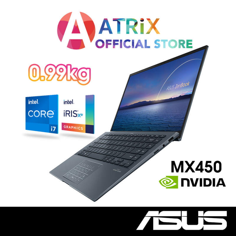 Latest! 2020 Version ASUS ZenBook 14 UX435EGL-KC028T | 14inch FHD IPS | 0.99Kg | i7-1165G7 | 16GB RAM | 1TB SSD | MX450 DDR6 | Win10 Home | 2Years ASUS Warranty