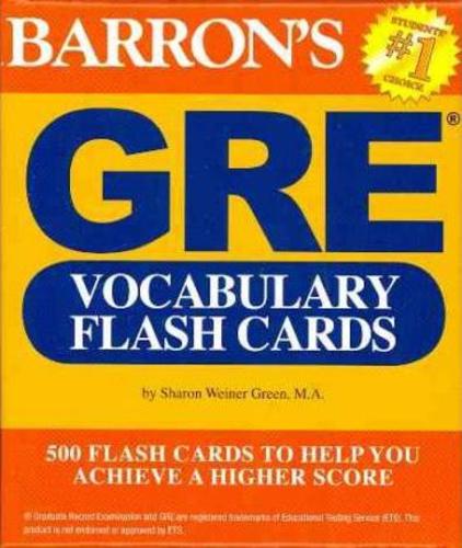 GRE Vocabulary Flash Cards