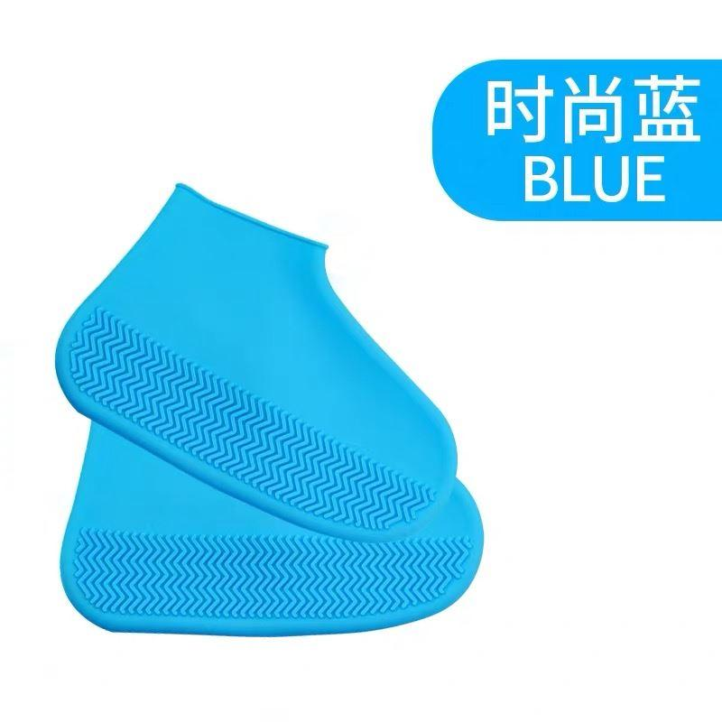 Shoe Bag Shoe Cover Waterproof One-piece Thick Water Resistant zhong xiu Anti-Students Rain And Snow Outdoor Foldable Rubber Shoes Korean Style Step