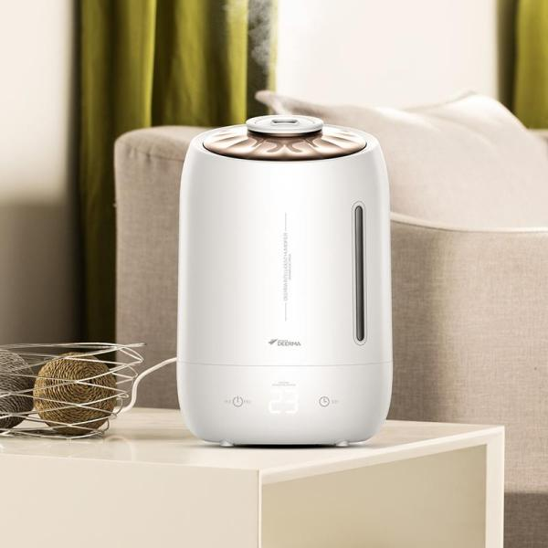 【1 Year Local Warranty】Xiaomi Deerma Dem-F600 Air Humidifier Ultrasonic 5L Quiet Aroma Mist Maker Led Touch Screen Timing Function Home Water Small Mini Diffuser Essential Oil Singapore