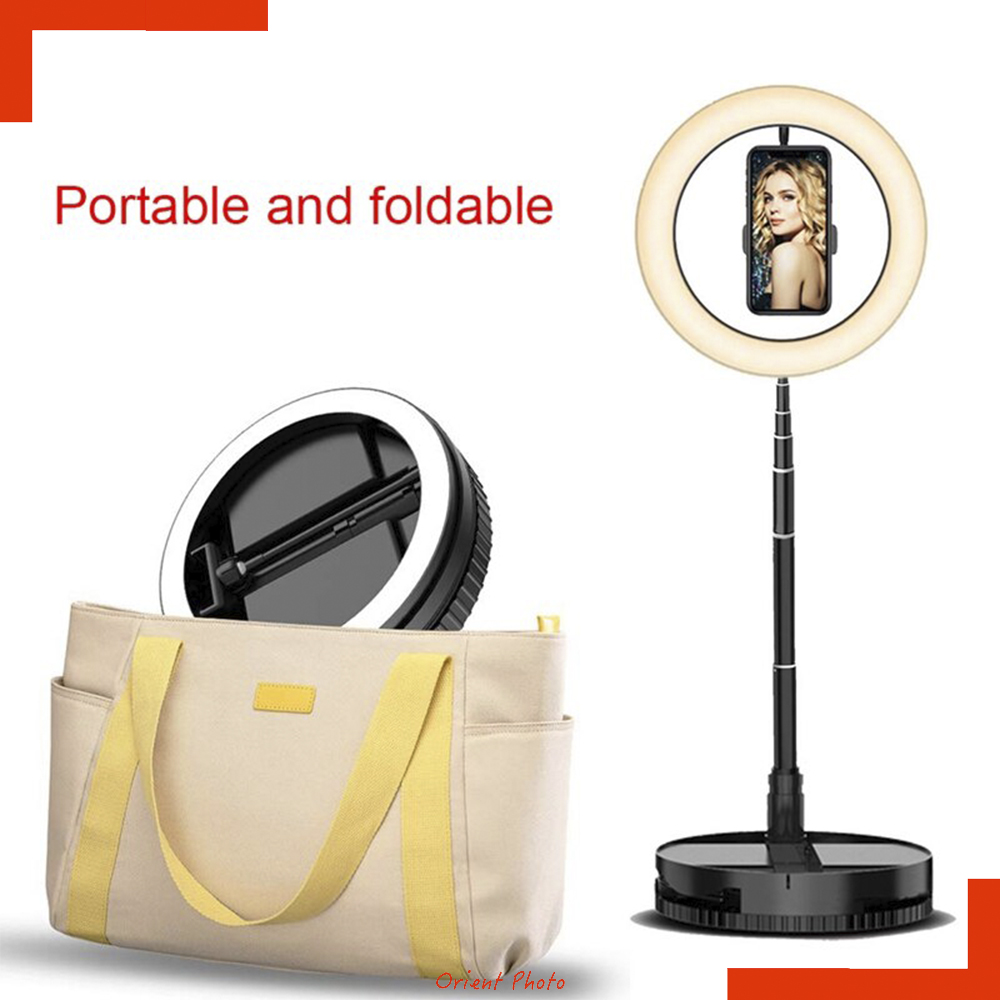 Edslrs Retractable Led Selfie Ring Light With Stand And Phone Holder Stretch Portable For Outdoor/live Stream/makeup.