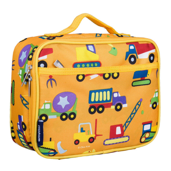 Wildkin Olive Kids Under Construction Insulated Lunch Box Bag