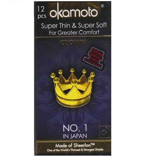 Okamoto Crown 12s Condoms By Jenstore.