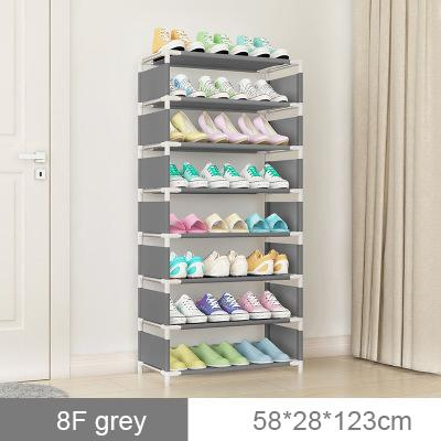 Easy assembly multi-layer non-woven fabric dustproof waterproof fabric shoe rack dormitory household economy province space small shoes shelf