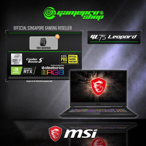 MSI GL75 Leopard 10SEK Gaming Laptop (i7-10750H/16GB DDR4/1TB SSD/6GB NVIDIA RTX2060 GDDR6 /17.3FHD 144Hz /W10) - 10SEK-207SG (2Y)