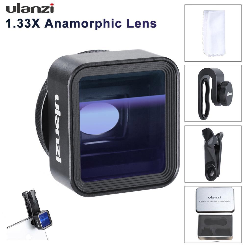 Giá Giai Điệu Ulanzi 17 Mm Đa Năng 1.33X Anamorphic Ống Kính Điện Thoại Cho Iphone XS Max X Huawei P20 Pro Giao Phối Bộ Phim Chụp Làm Phim ống Kính Điện Thoại