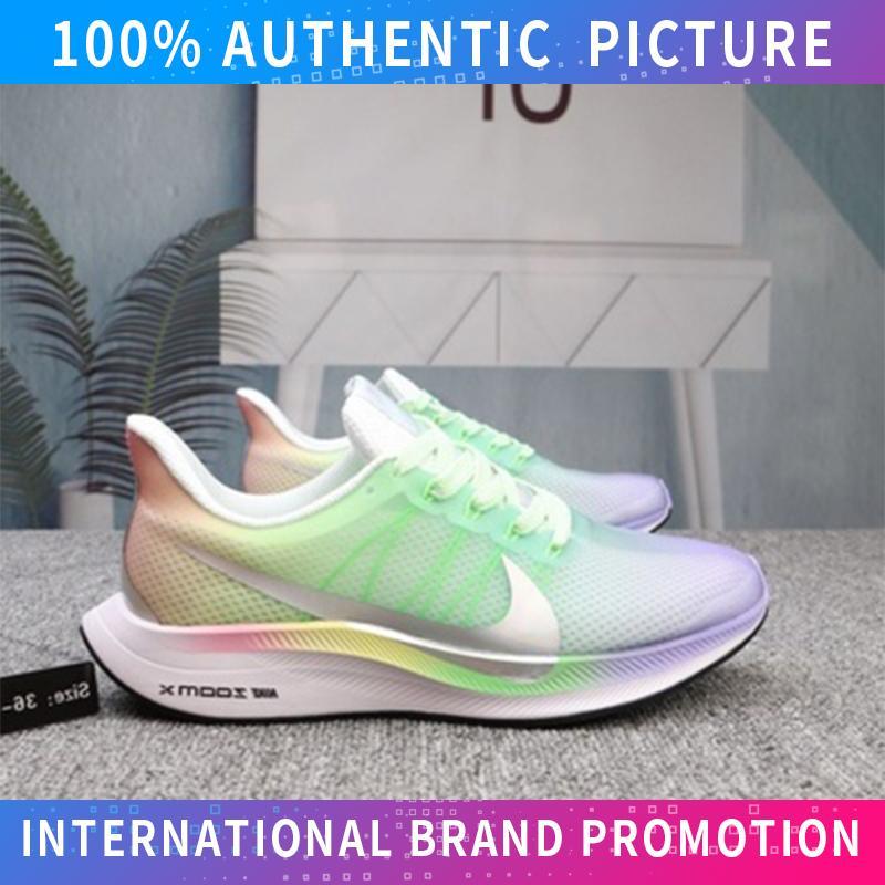 NIKE_ZOOM PEGASUS 35 TURBO Unisex Sepatu Sneaker Jalan Kanvas Rendah Top Untuk Mens Dan Womens Sepatu Skateboard (Hitam Putih)
