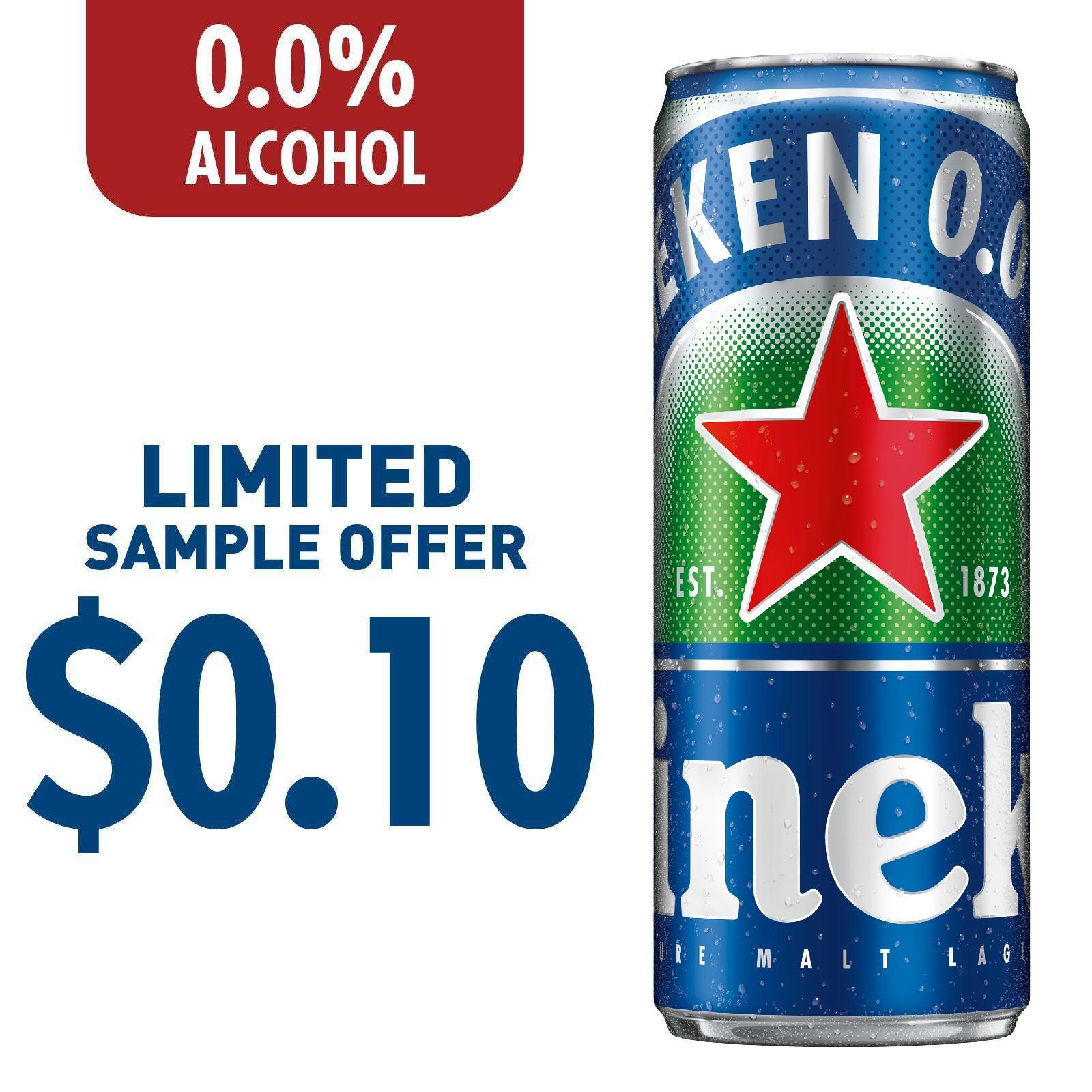 Heineken 0.0% Zero Beer Can 330ml [Sample 1 Per Customer]