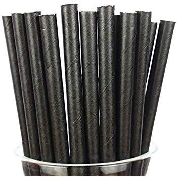 25 Pcs Biodegradable Paper Straws Various Colours By Nature Planet.