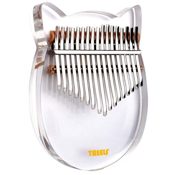 TREELF TF-17C 17 Key Kalimba Acrylic Thumb Piano 17 Keys Mbira Transparent Keyboard Instrument Malaysia