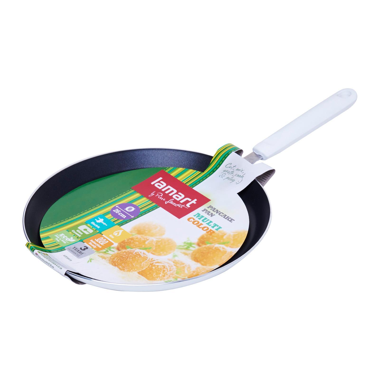 Lamart Induction Ready Non-Stick Crepe Pan 26X2Cm - White