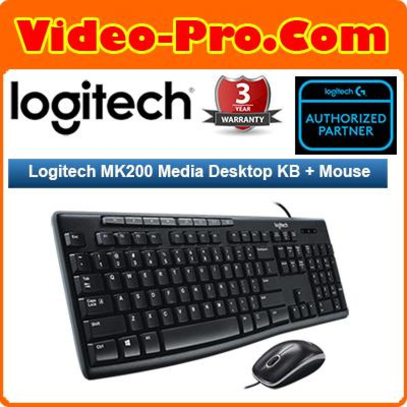 Logitech MK200 Media Desktop KB and Mouse 920-002693 Singapore