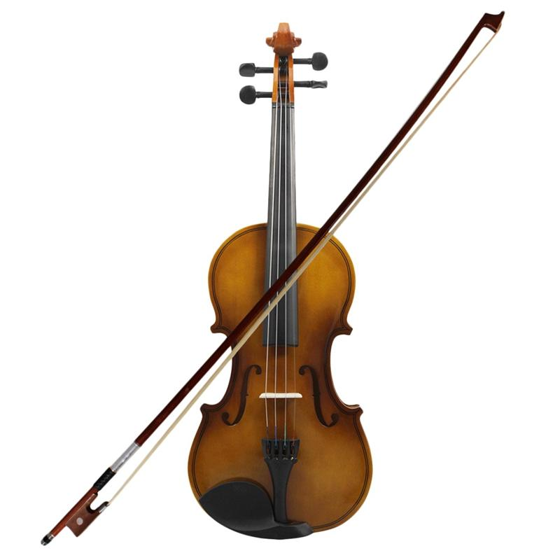 4/4 Full Size Acoustic Violin Fiddle With Case Bow Rosin Violin