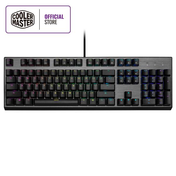 Cooler Master CK350 Mechanical Keyboard, RGB Illumination, Floating Keys, ABS Double-Injection Keycaps, Brushed Aluminum Design (Full Layout / 108 Keys) Singapore