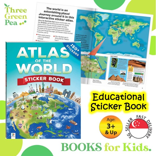 Sticker Atlas of the Word - Educational Sticker Book for Children - Fun and Interactive Activity Book