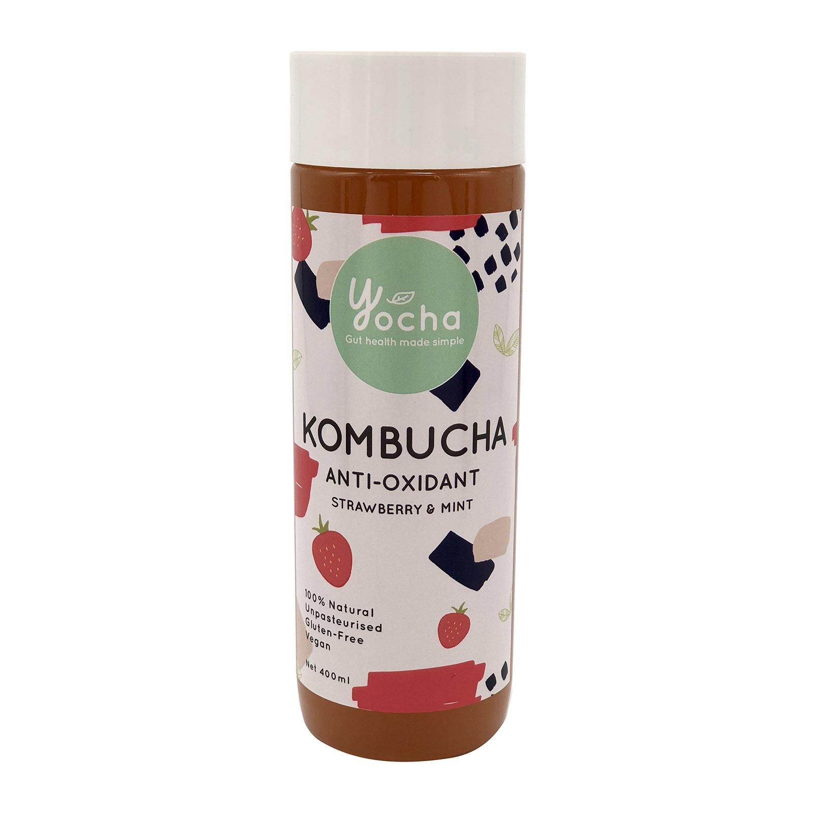 Yocha Kombucha Anti-Oxidant - Strawberry And Mint By Redmart.