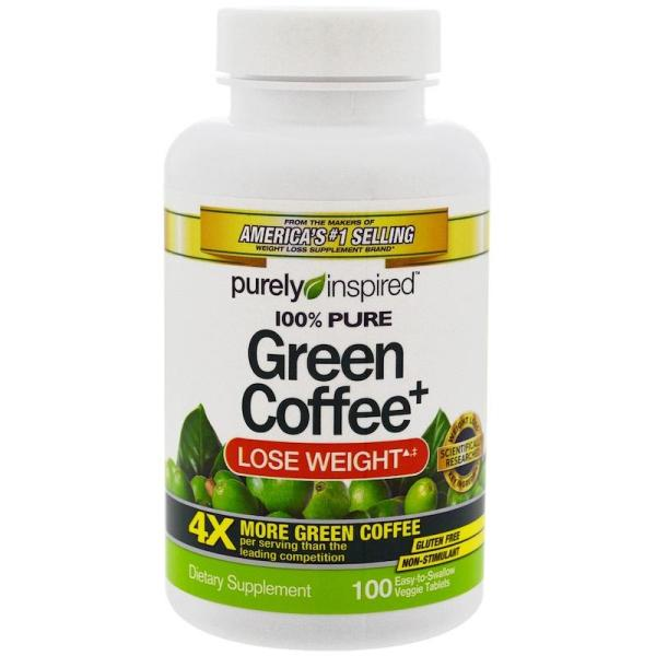 Buy Green Coffee+, Purely Inspired, 100 Veggie Tabs Singapore
