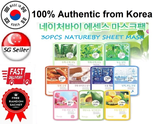 Buy *30 PIECES* NATUREBY MASK SHEET ASSORTED (690ML) SG SELLER *FAST DELIVERY* MOISTURIZING & RADIANCE ANTI AGING FIRMING LIFTING BRIGHTENING ANTI WRINKLE SOOTHING NOURISHING *FOR MEN & WOMEN* FOR ALL SKIN TYPES -100% AUTHENTIC by BEAUTY BESTIE -MADE IN KOREA Singapore