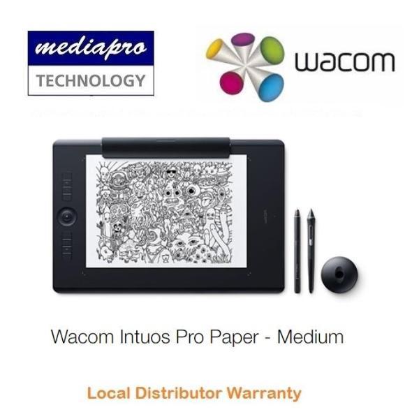 Wacom Intuos Pro Medium Paper Edition PTH-660/K1 Graphic Drawing Pen Tablet - PTH-660 - Local Distributor Warranty