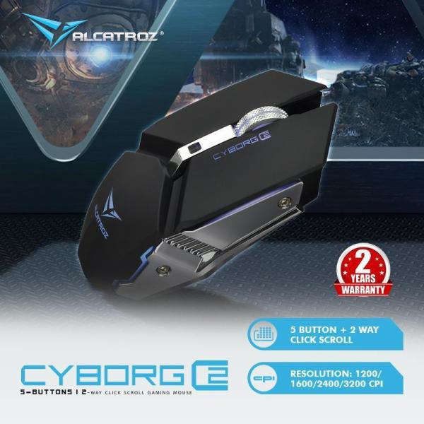 Alcatroz  Cyborg C2 Button Gaming Mouse (3200 CPI) 7 Colours Light Effects Singapore