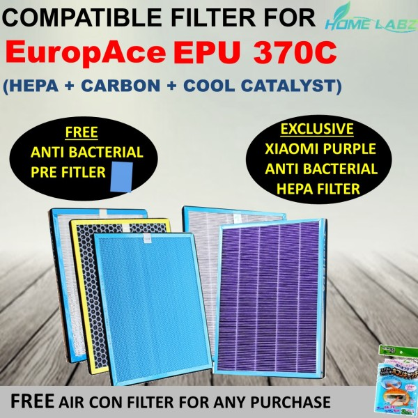 Europace EPU 370C Air Purifier Compatible Filter (Free Anti Bacteria Pre Fillter) Singapore
