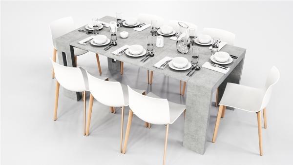 Extendable Console Table - Beton