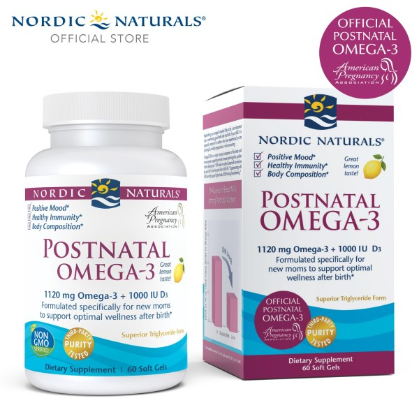 Buy Nordic Naturals Postnatal Omega-3 Soft Gels 60s Singapore