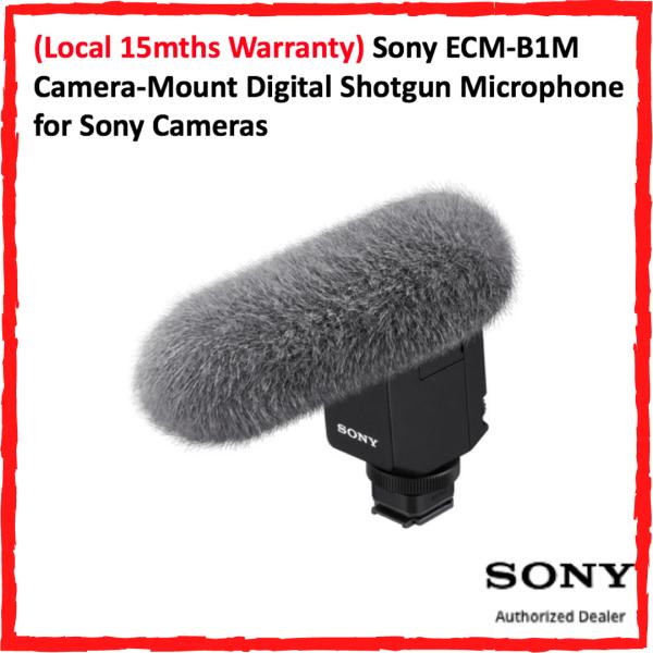 (Local 15mths Warranty) Sony ECM-B1M Camera-Mount Digital Shotgun Microphone for Sony Cameras Singapore