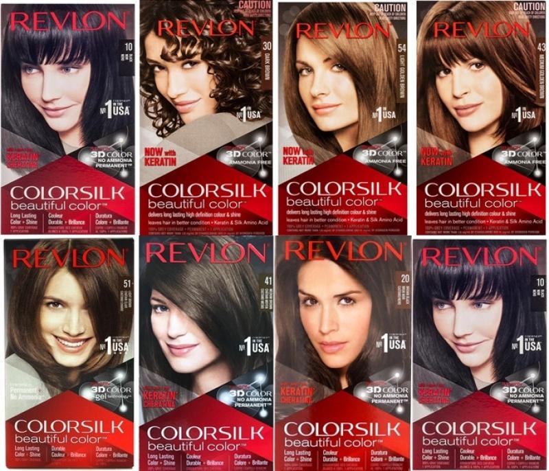 Buy Revlon Colorsilk x3 Hair Dye 130ml Medium Light Dark Golden Soft Brown Black Singapore