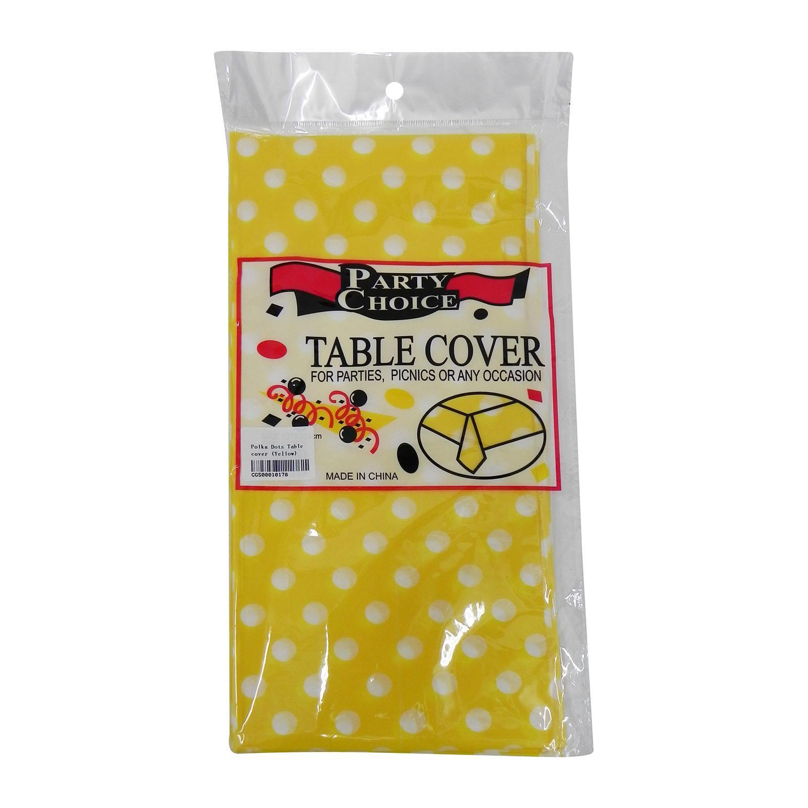 CGS Polka Dots Tablecover (Yellow)