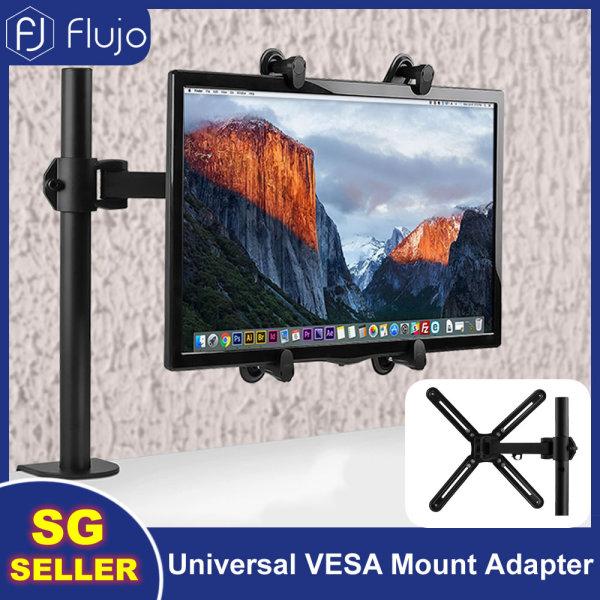 Flujo Steel Universal VESA Mount Adapter Plate Brackets Fits 19-27 LCD LED Screen Conversion Kit For Non VESA Monitor Screens to 75x75mm/100x100mm