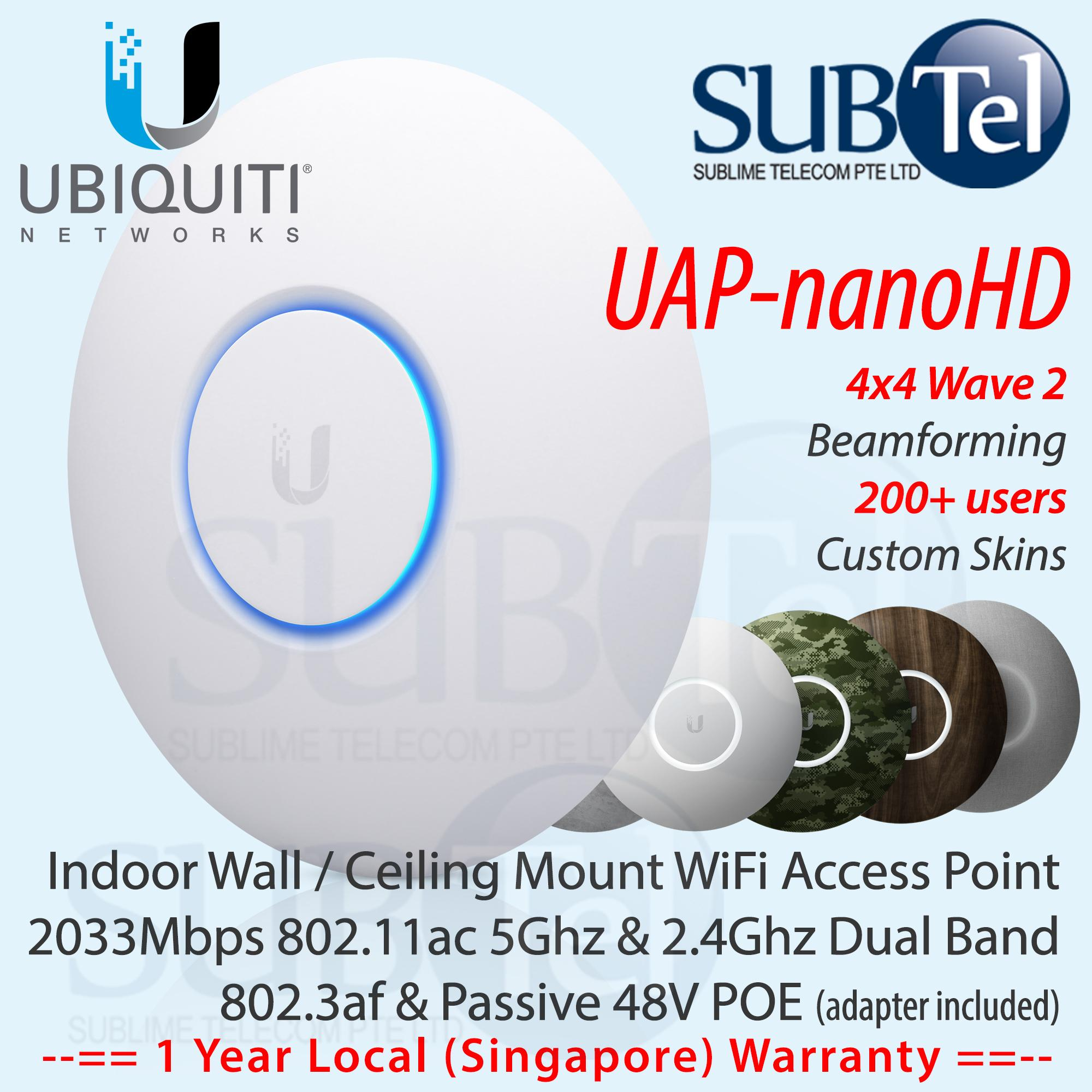 UAP-nanoHD Latest Ubiquiti UniFi Nano HD Dual Band Access Point Nano-HD 4X4  MU-MIMO Wave 2 NanoHD UBNT Singapore