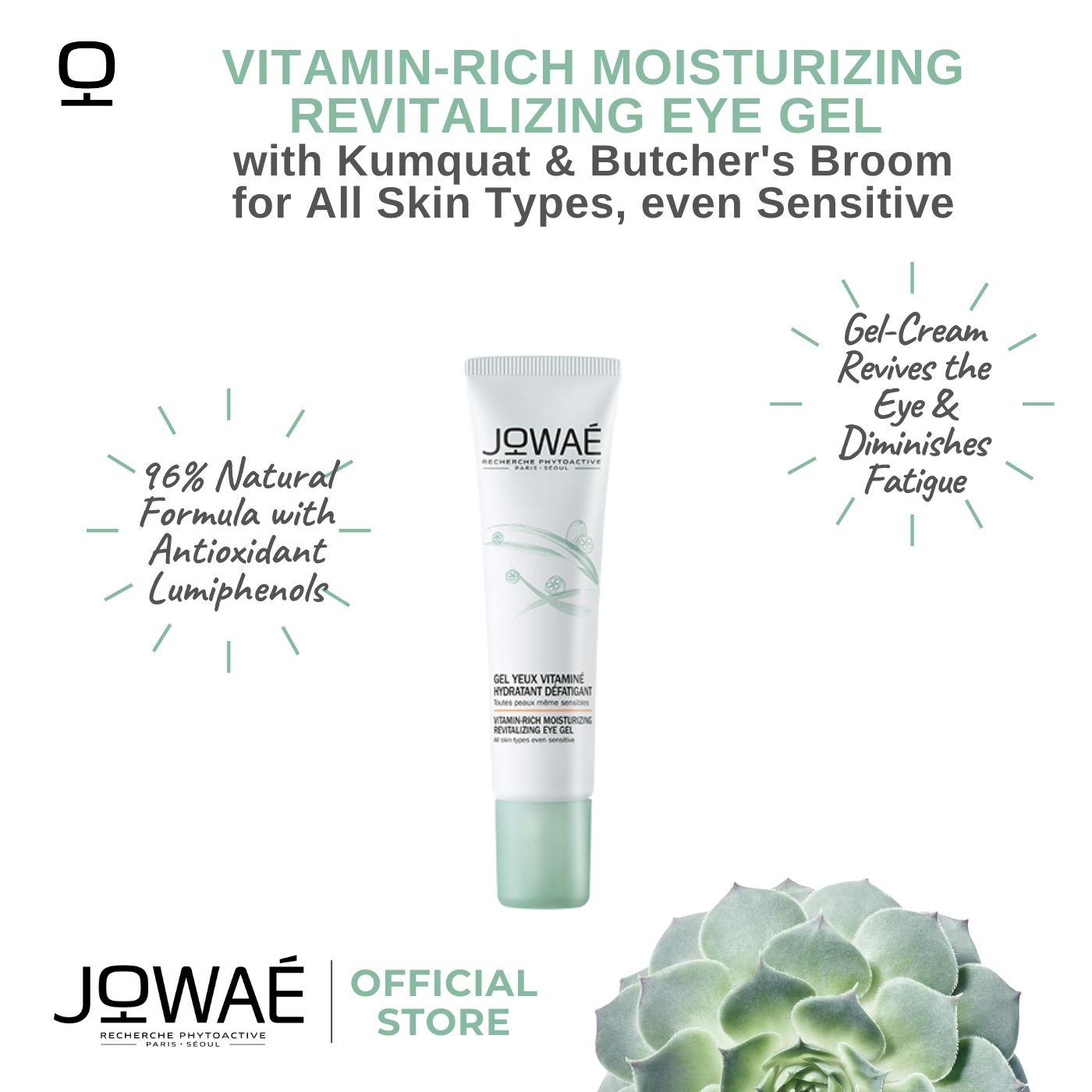 Jowae Vitamin-Rich Energizing Moisturizing Revitalizing Eye Gel With Kamquat & Butchers Broom For All Skin Types, Even Sensitive.