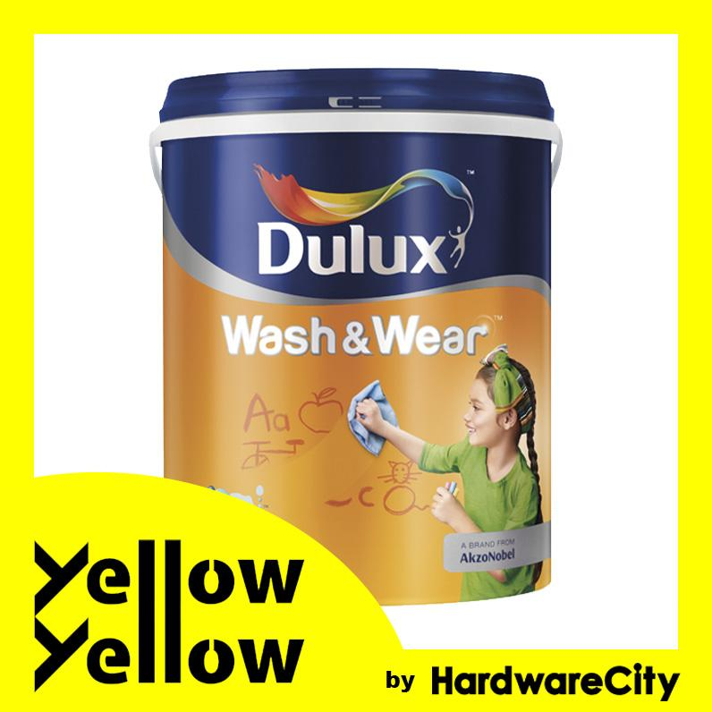 Dulux Wash & Wear Emulsion Interior Paint 5L - COLORS AVAILABLE (Smooth Matt Finish, Easy Clean Off)