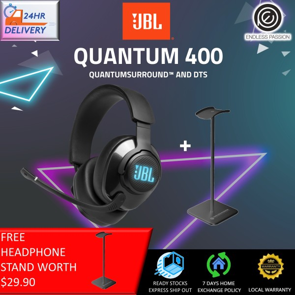 JBL Quantum 400 - Wired Over-Ear Gaming Headphones with USB and Game-Chat Balance Dial [24 Hours Delivery] Singapore