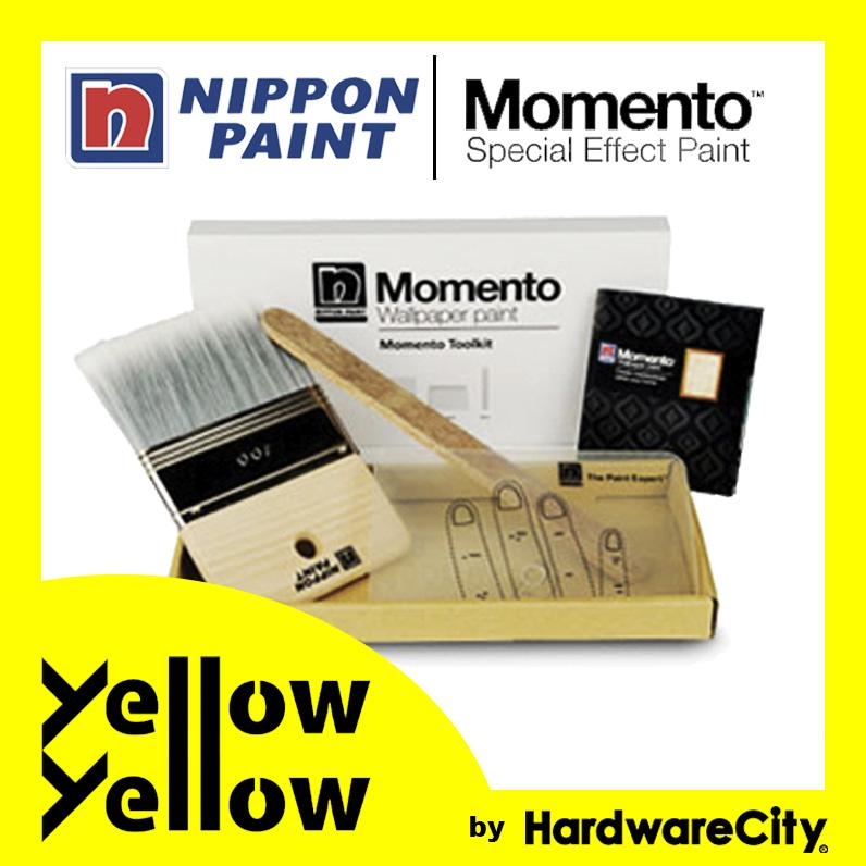 Nippon Paint Momento Toolkit (Soft Bristle Brush, Spatula & Stirrer) [Momento Tools]