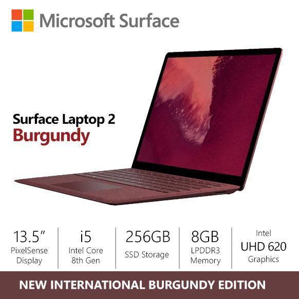 [10.10 SALE] Microsoft Surface Laptop 2 Burgundy i5/8gb/256gb - International