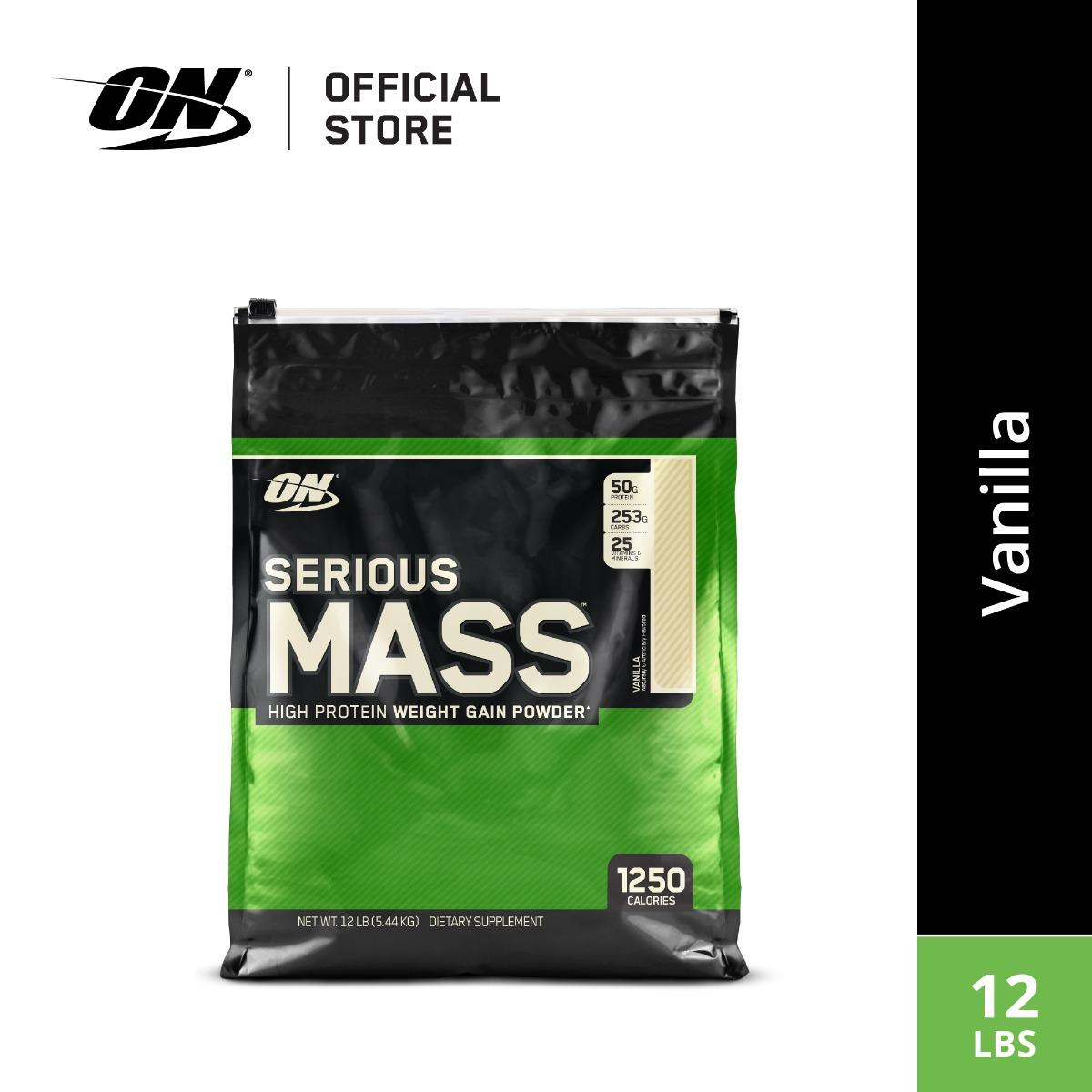 Optimum Nutrition Serious Mass (12 Lbs) - Vanilla By Body & Fit.