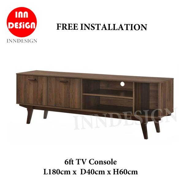 Edda 6ft TV Console / TV Cabinet (Free Installation and Delivery)