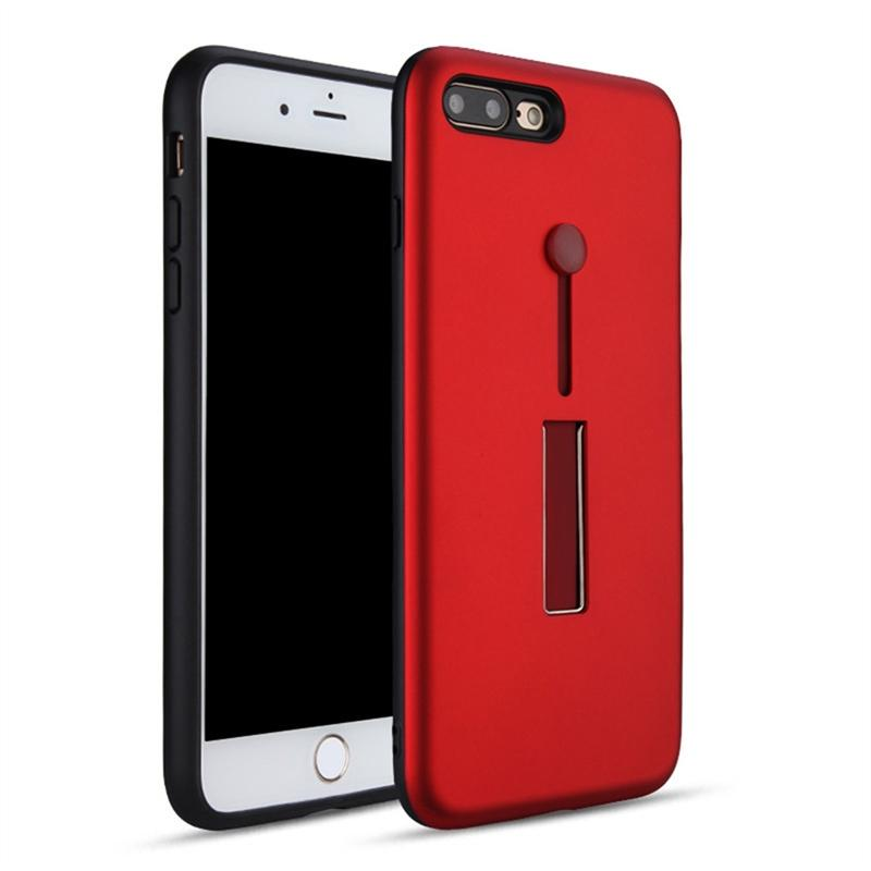 For iPhone 7 Plus / iPhone 8 Plus Finger Strap Case Ring Holder Dual Layer Protection